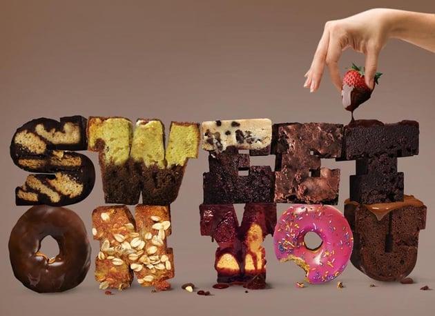 Cake Typographic Illustration Photoshop Tutorial