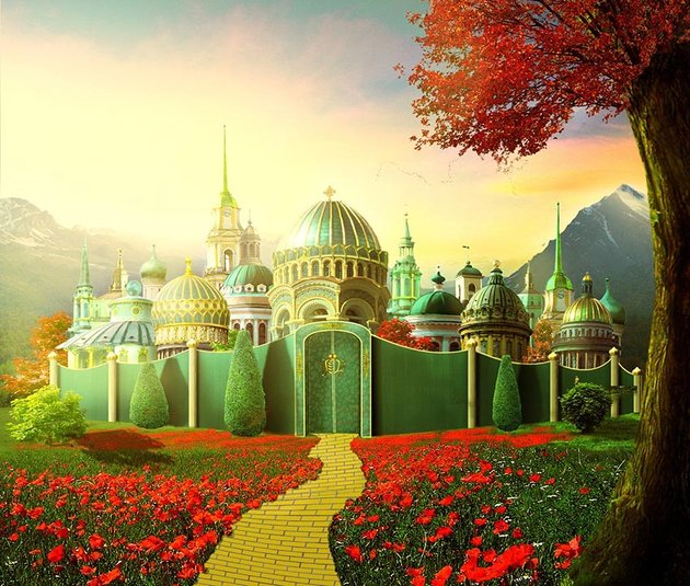Emerald City Photo Manipulation Photoshop Tutorial
