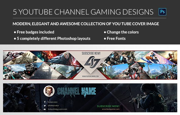 Gaming YouTube Channel banner