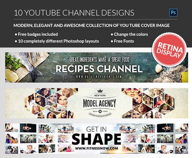 10 Multipurpose YouTube Channel Banners