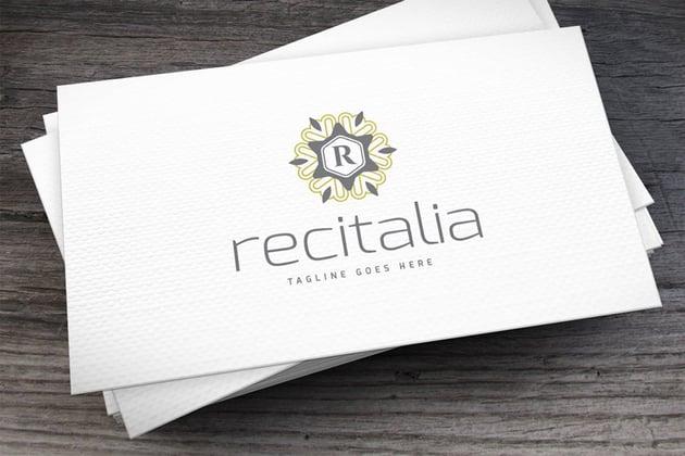 Recitalia Logo Template