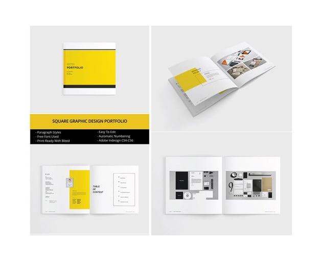 Square InDesign Portfolio Template