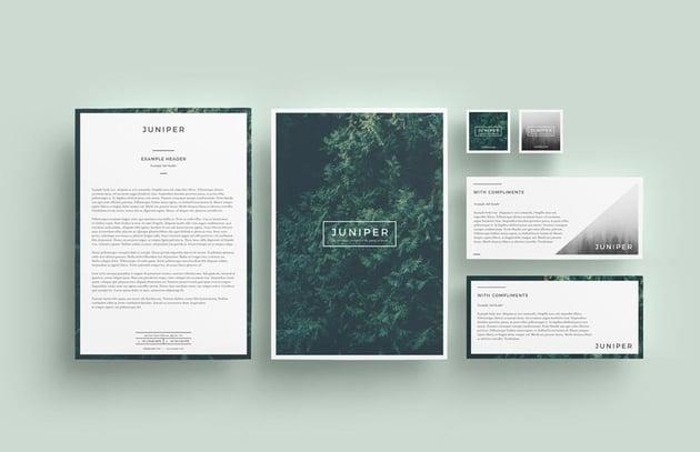 Juniper InDesign Stationery Template