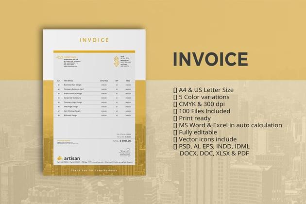 Money Invoice Template