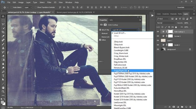 Color Lookup Adjustment Layer