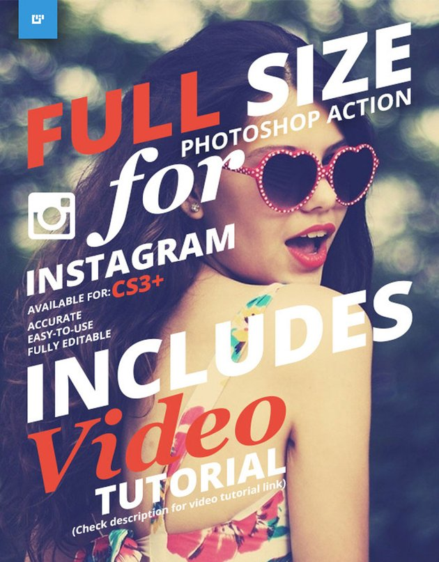 Full Size for Instagram Photoshop Action