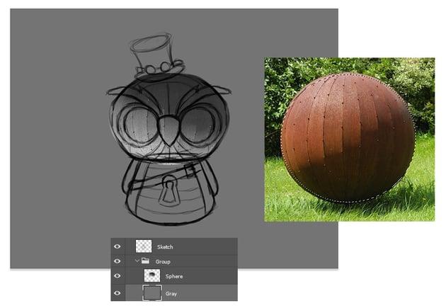 Create the Owl Head