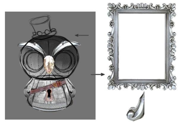 Create the Owls Eyebrows