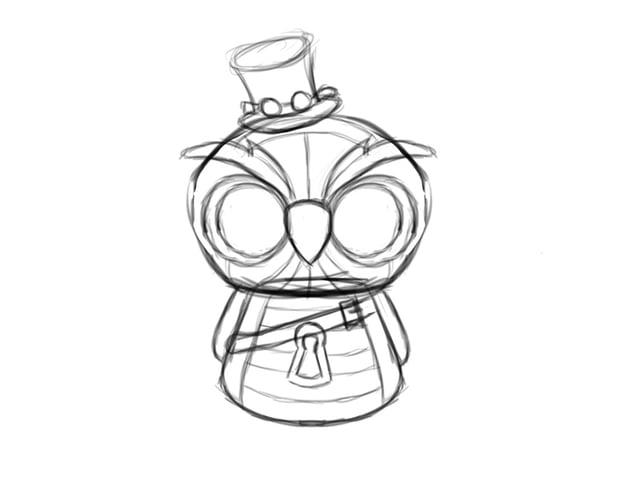 Final Owl Sketch