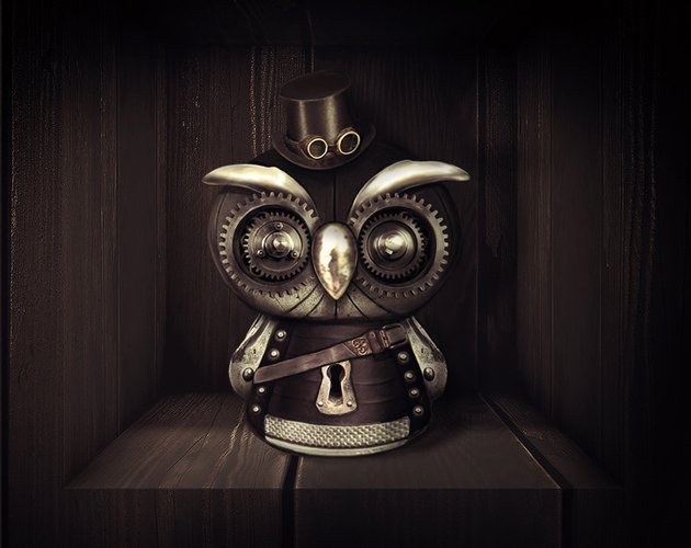 Steampunk Owl Photo Manipulation Tutorial by Melody Nieves