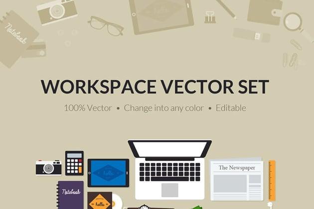 Flat Creative Workspace Tools