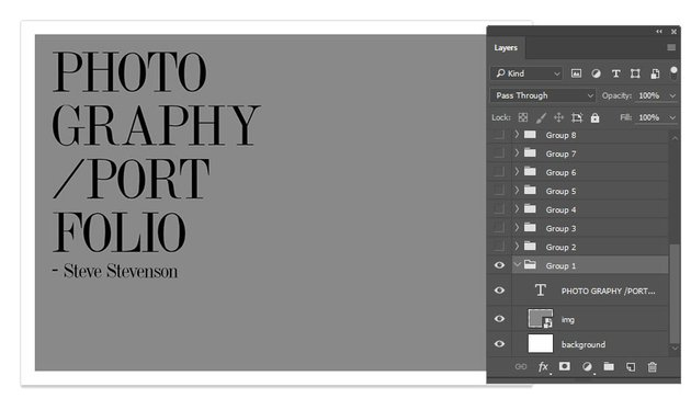 Portfolio Layers in Photoshop