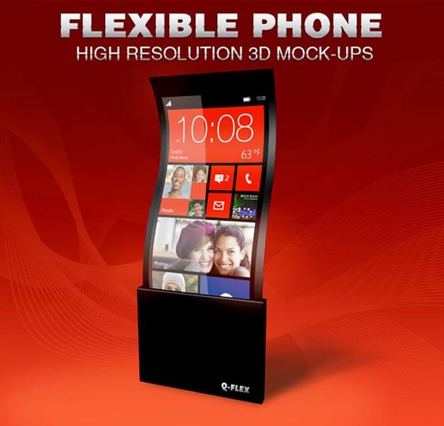 Flexible Phone Mockup Template