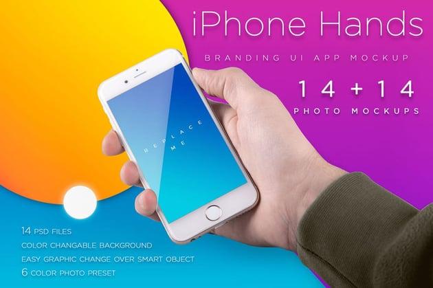 iPhone Mockup -Template