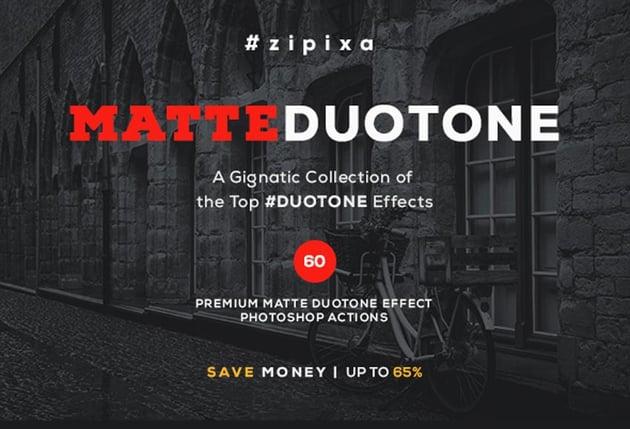 60 Matte Duotone Actions