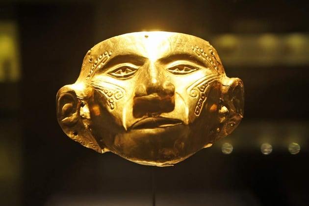 Golden Muisca Mask