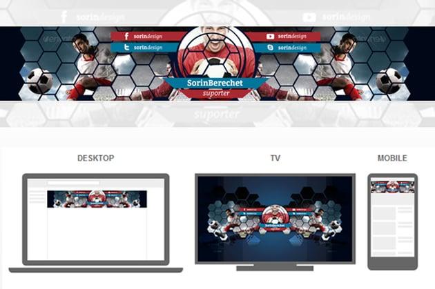 YouTube Soccer Banner