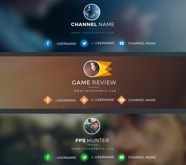 YouTube Gamer Channel Art