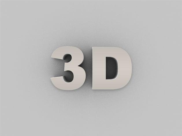 3D Text Effect Photoshop Action Tutorial
