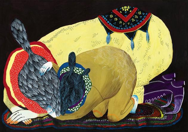 Kinkmole Paintings by Ilona Partanen
