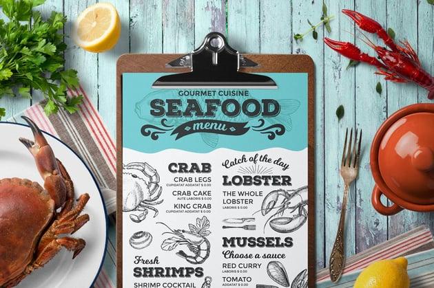 Seafood Menu Template