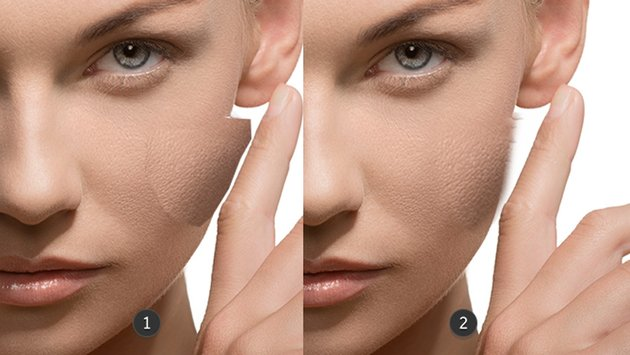 Cover the skin cream with skin