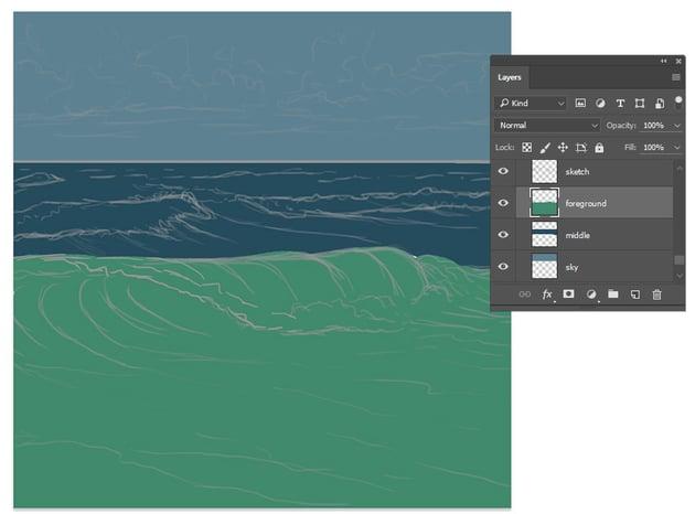 Paint the base colors