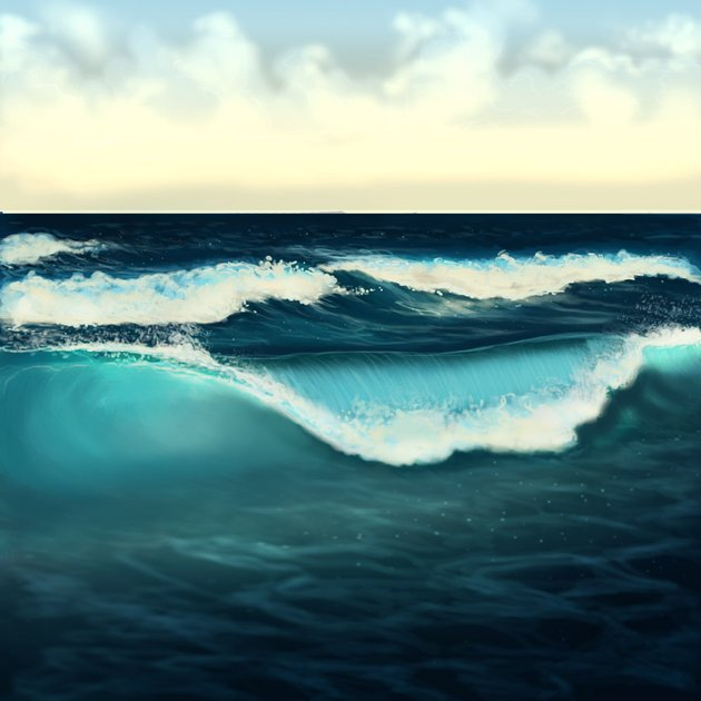 Correct the wave painting