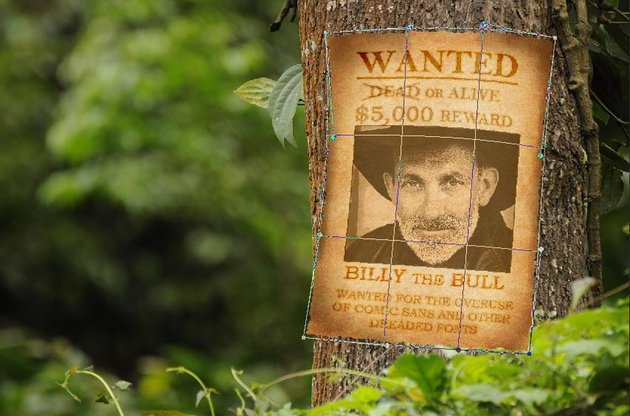 Warp the wanted poster