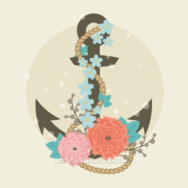How to Create a Floral Anchor Illustration in Adobe Illustrator