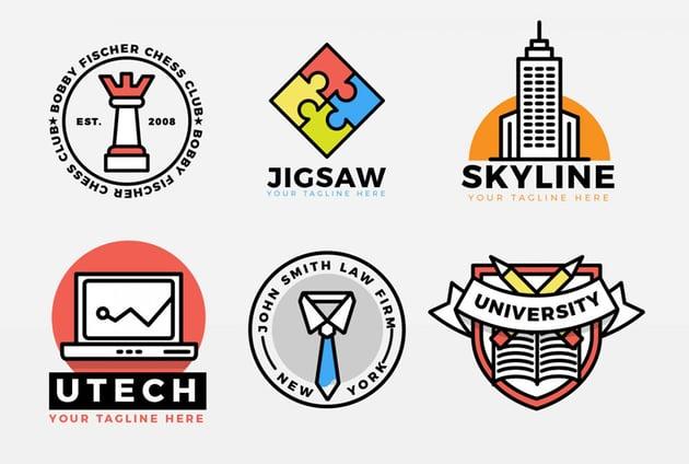 Corporate Bold Icons Logo Kit