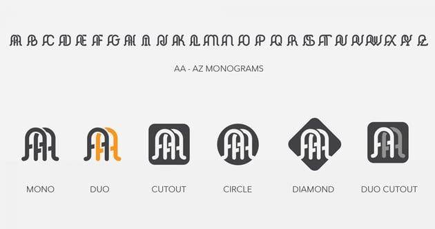 Elegant Monogram Logo Kit