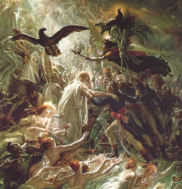 Ossian Receiving the Ghosts of the French Heroes by Anne-Louis Girodet de Roussy-Trioson