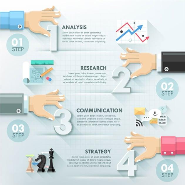 Business Hands Teamwork Infographics Template