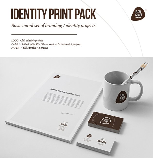 Flow Shape Branding Print Pack