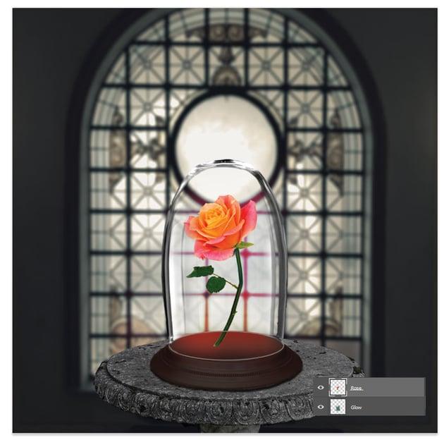 Add the rose