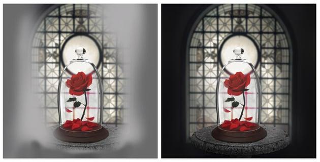Create a quick vignette effect