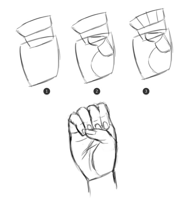 Draw the letter E from the ASL Alphabet