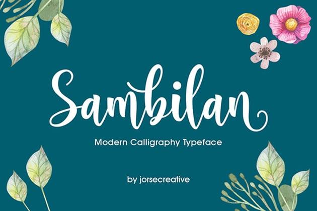 Sambilan Modern Calligraphy Typeface