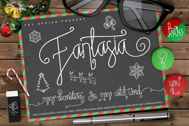 Fantasia - Script Monoline Font