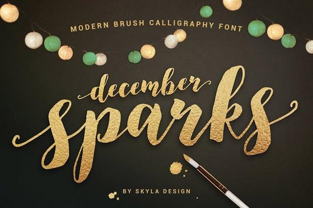 December Sparks Font
