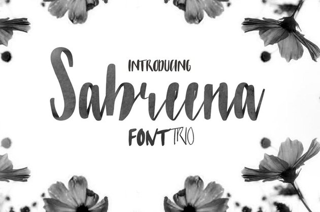 Sabreena Calligraphy Font Style