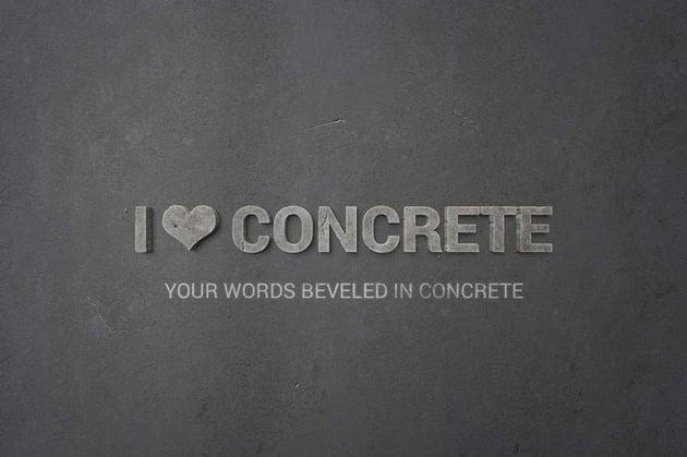 I Love Concrete - Layer Styles