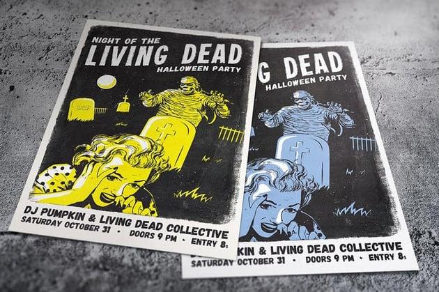 Living Dead Halloween Flyer