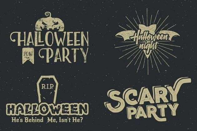 Halloween Badges Set Vol2