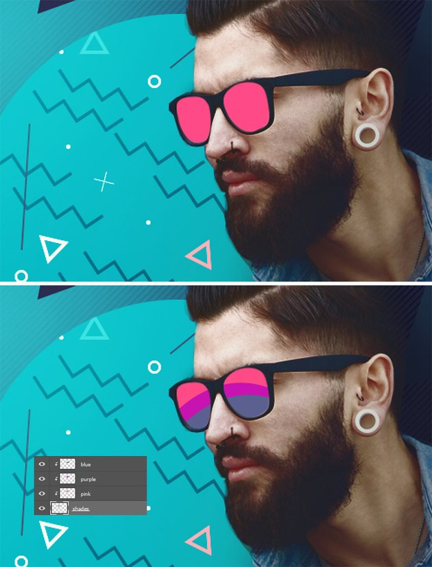 Add color to the glasses