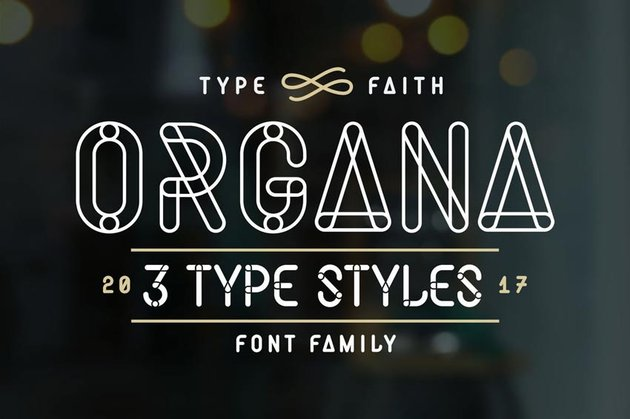 Organa Caps Stencil Letters Font Family