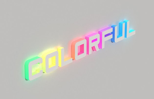 3d Colorful text effect