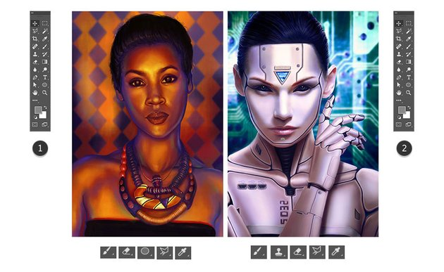 Photoshop tools for different art types