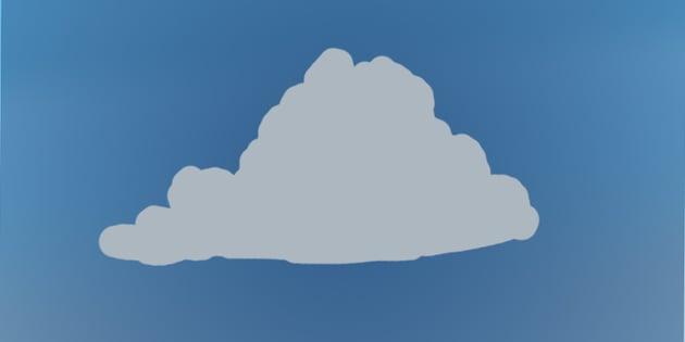 Paint base cloud shape